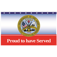 Proud Army Service Banners