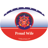 """Wife"" Coast Guard Decals"