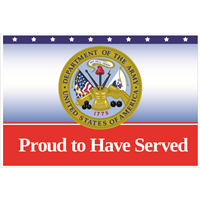 Proud Army Service Yard Signs