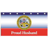 """Husband"" Army Banners"