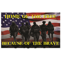Home of the Free Because of the Brave Banners