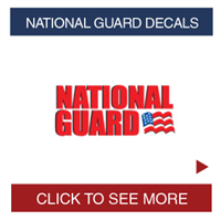 National Guard Decals
