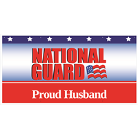 """Husband"" National Guard Banners"