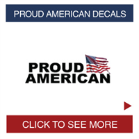 Proud American and Veteran Decals