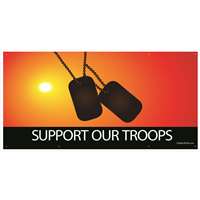 Support Our Troops Dog Tag Banners