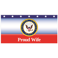 """Wife"" Navy Banners"