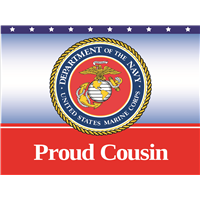 Proud Cousin Marines Yard Sign