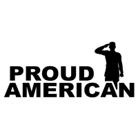 "11"" x 5"" Proud American with Male Soldier Decal"
