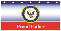 6'x3' Proud Father Navy Banner