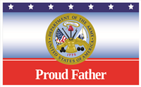 5'x3' Proud Father Army Flag