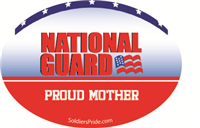 Proud Mother National Guard Decal
