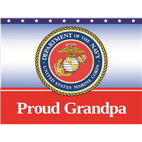 Proud Grandpa Marines Yard Sign