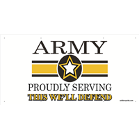 5'x3' Army Star Banner - Proudly Serving