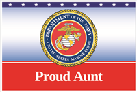 3'x2' Proud Aunt Marines Flag