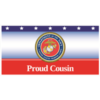 6'x3' Proud Cousin Marines Banner