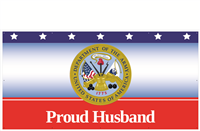 8' x 4' Proud Husband Army Banner
