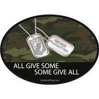 All Give Some POW MIA Dog Tags Decal