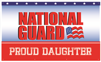 5'x3' Proud Daughter National Guard Banner