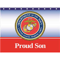 Proud Son Marines Yard Sign