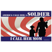 8'x4' America Hero - Mom w/Girl Banner