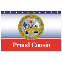 3'x2' Proud Cousin Army Flag