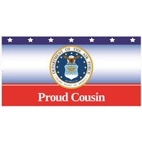 8'x4' Proud Cousin Air Force Banner