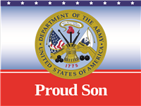 Proud Son Army Yard Sign