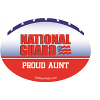 Proud Aunt National Guard Decal