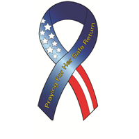 Ribbon Decal Protect Her Flag