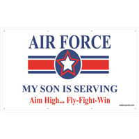 5'x3' Air Force Star Banner - Son Serving