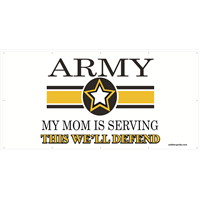 8'x4' Army Star Banner - Mom Serving