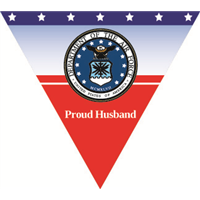 Proud Husband Air Force Pennant
