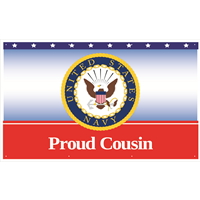 5'x3' Proud Cousin Navy Banner