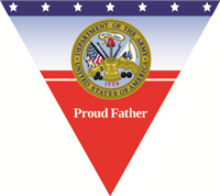 Proud Father Army Pennant