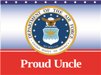 Proud Uncle Air Force Yard sign