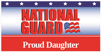 8x4' Proud Daughter National Guard Banner
