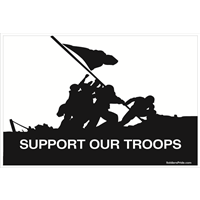 3'x2' Support Our Troops Iwo Jima Flag