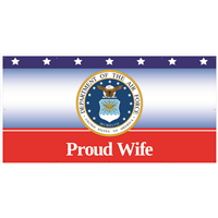 8' x 4' Proud Wife Air Force Banner