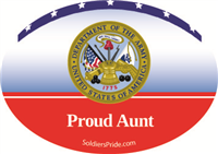 Proud Aunt Army Decal