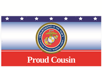 8' x 4' Proud Cousin Marines Banner