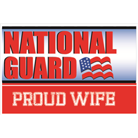 3'x2' Proud Wife National Guard Flag