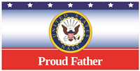 8'x4' Proud Father Navy Banner