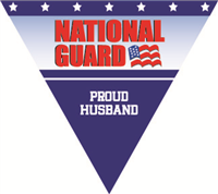 Proud Husband National Guard Pennant