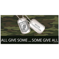 8'x4' All Give Some Some Give All POW MIA Banner