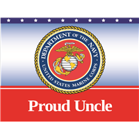 Proud Uncle Marines Yard Sign