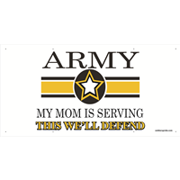 6'x3' Army Star Banner - Mom Serving