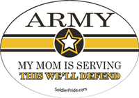 Army Star Decal - Mom Serving