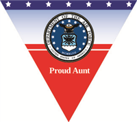 Proud Aunt Air Force Pennant