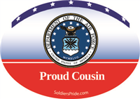 Proud Cousin Air Force Decal