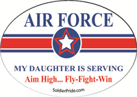 Air Force Star Decal - Daughter Serving